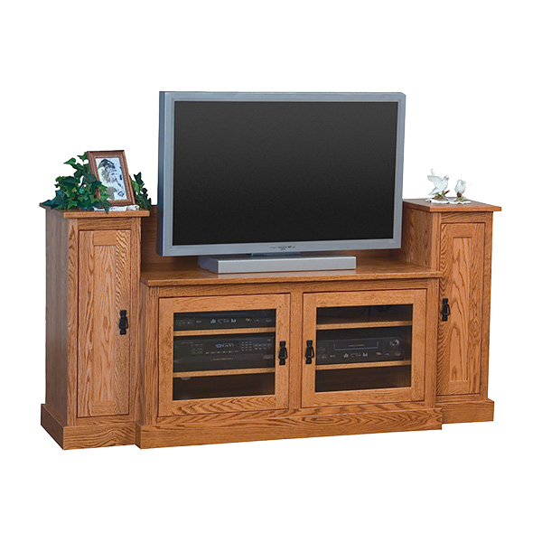 "Amish Mission TV Stand with Towers (48"" TV Space) 