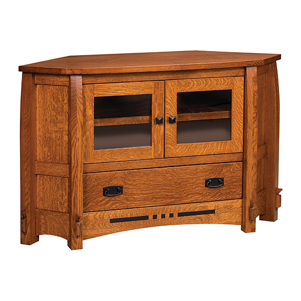 "Amish Canyon Corner TV Stand 49""W 