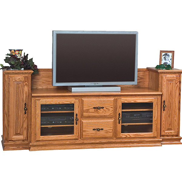 "Heritage TV Stand with Towers (60"" TV Space)"