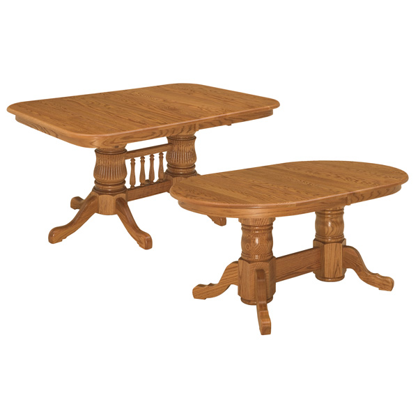 Amish Shasta Double Pedestal Extension Tables | Amish Furniture | Shipshewana Furniture Co.