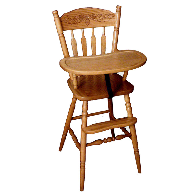 Amish Acorn Highchair | Amish Furniture | Shipshewana Furniture Co.