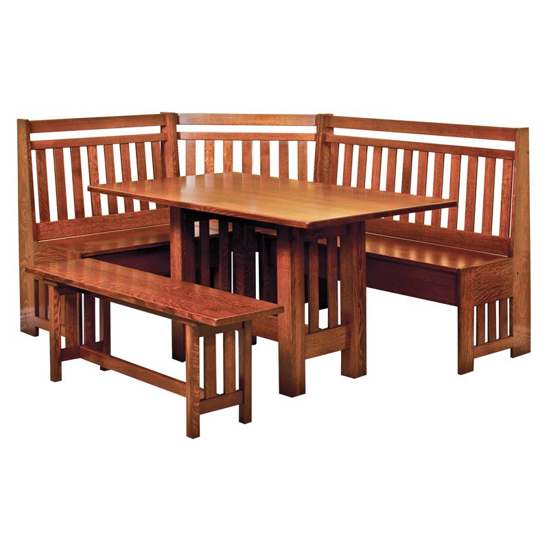 Amish Bay Hill Breakfast Nook | Amish Furniture | Shipshewana Furniture Co.