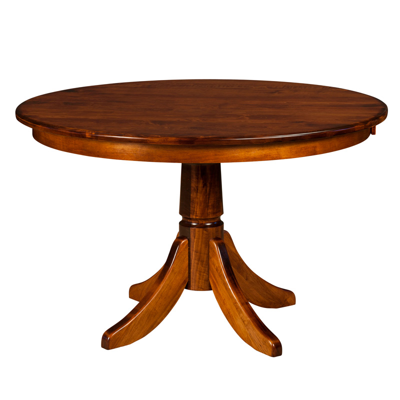 Amish Belleville Single Pedestal Table | Amish Furniture | Shipshewana Furniture Co.