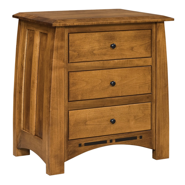 "Boulder Creek 3 Drawer Nightstand 29-3/4""H"