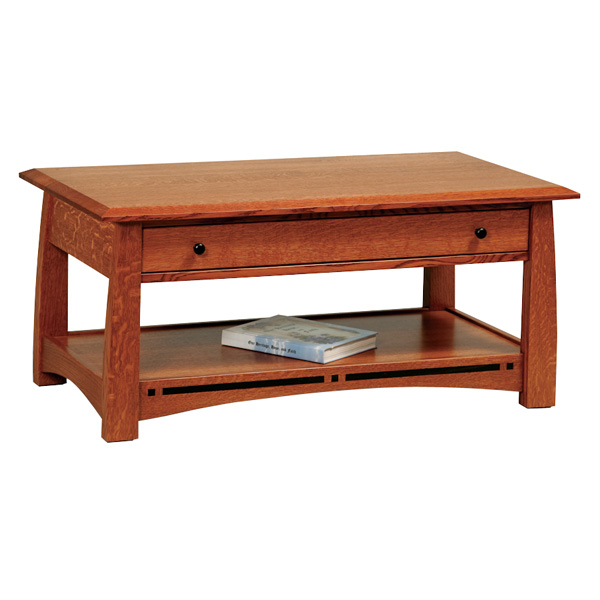 Amish Boulder Creek Open Coffee Table | Amish Furniture | Shipshewana Furniture Co.