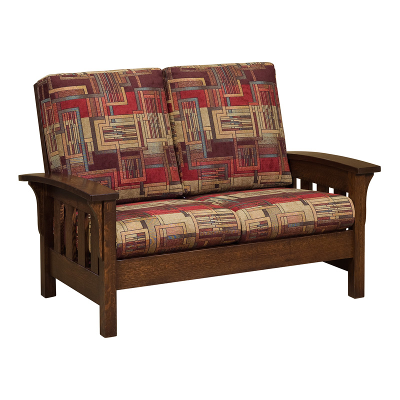 More Information, Amish Bow Arm Loveseat | Amish Furniture | Shipshewana  Furniture Co.