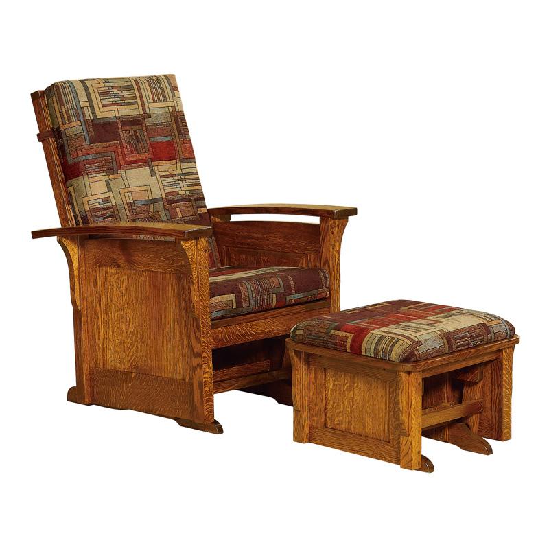 Bow Arm Panel Glider Amish Rockers Gliders Amish Furniture Shipshewana Furniture Co