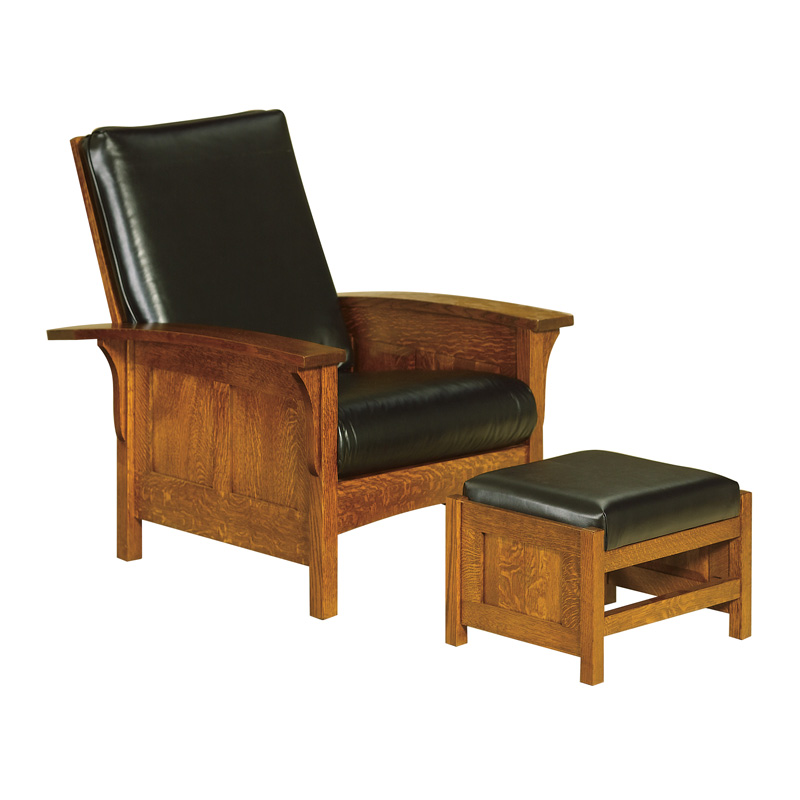Amish Bow Arm Panel Morris Chair | Amish Furniture | Shipshewana Furniture Co.