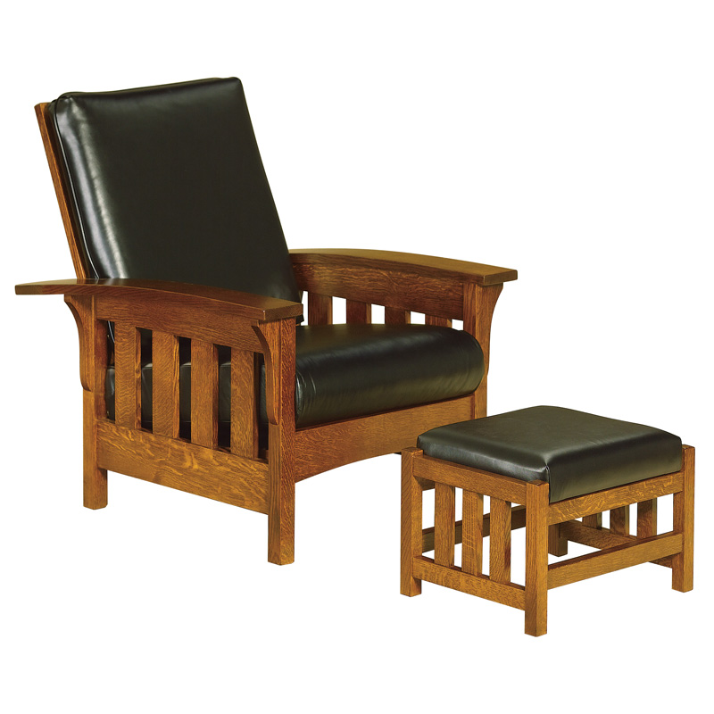 Amish Chairs amp Recliners Amish Furniture Shipshewana  : bow arm slat morris chair and footstool from www.shipshewanafurniture.com size 800 x 800 jpeg 120kB