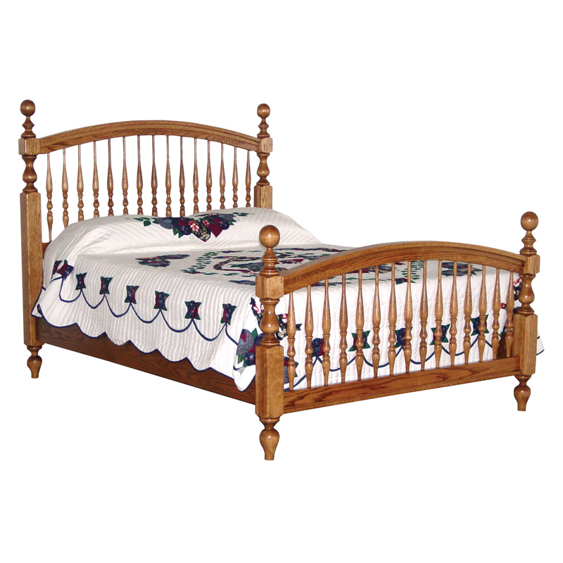 Amish Bow Spindle Bed | Amish Furniture | Shipshewana Furniture Co.