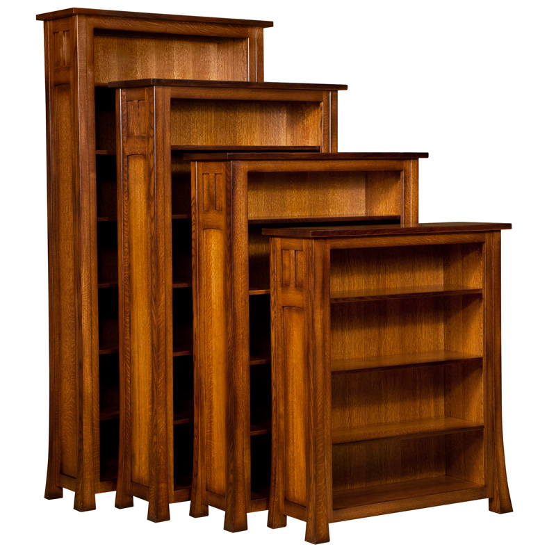 Bridgefort Mission Open Bookcase