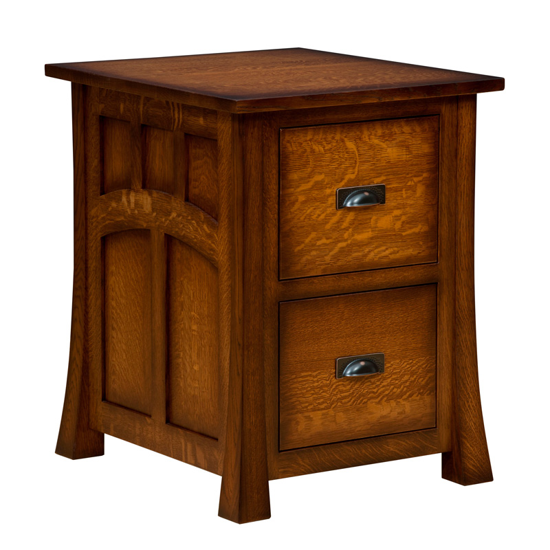 Amish Bridgefort Mission File Cabinet | Amish Furniture | Shipshewana Furniture Co.