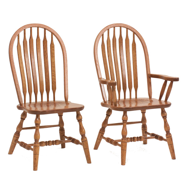 Amish Brownsville Deep Scoop Dining Chairs | Amish Furniture | Shipshewana Furniture Co.
