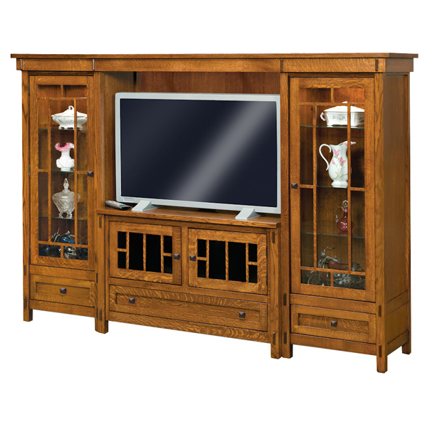 Amish Centennial 4pc Wall Unit | Amish Furniture | Shipshewana Furniture Co.