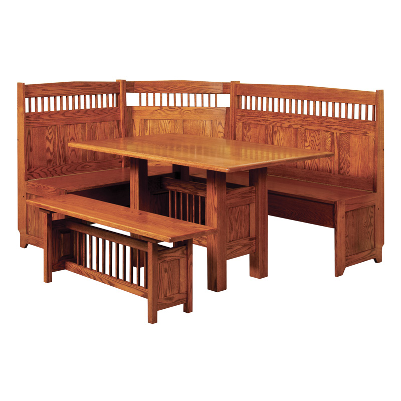 Amish Classic Mission Breakfast Nook | Amish Furniture | Shipshewana Furniture Co.