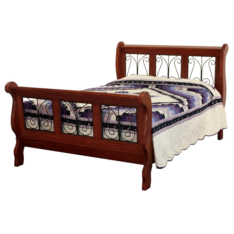 Oak Twin Sleigh Bed