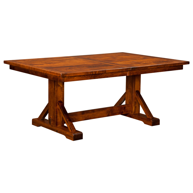 Amish Dining Tables Furniture Amish Dining Tabless Amish Furniture - Single pedestal rectangular dining table