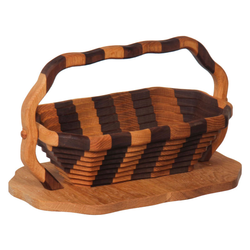 Collaspible Basket - Candy Dish / Striped