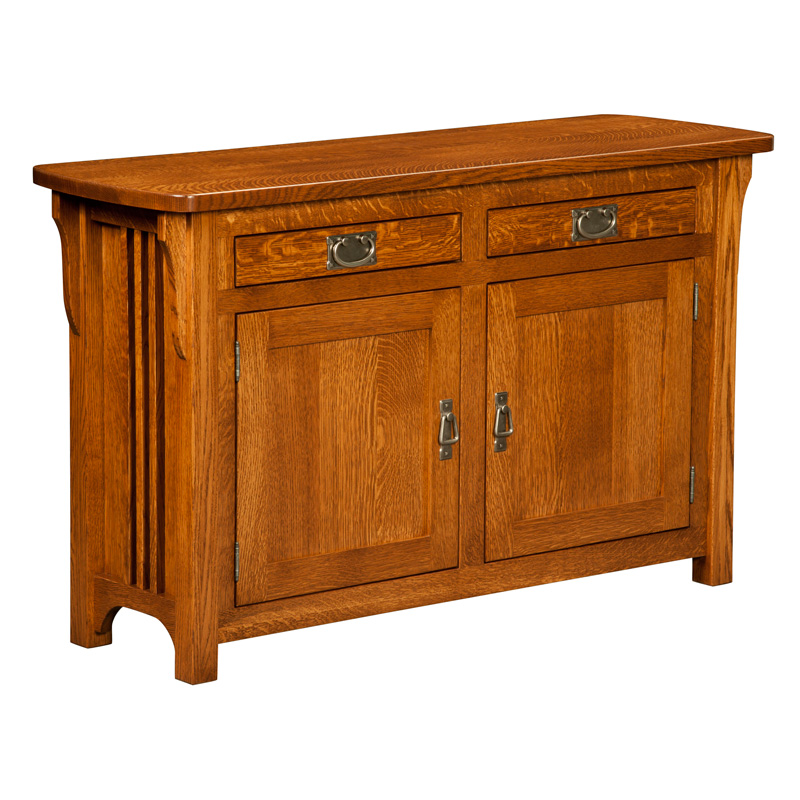 Craftsman cabinet sofa table shipshewana furniture co - Sofa table with cabinets ...