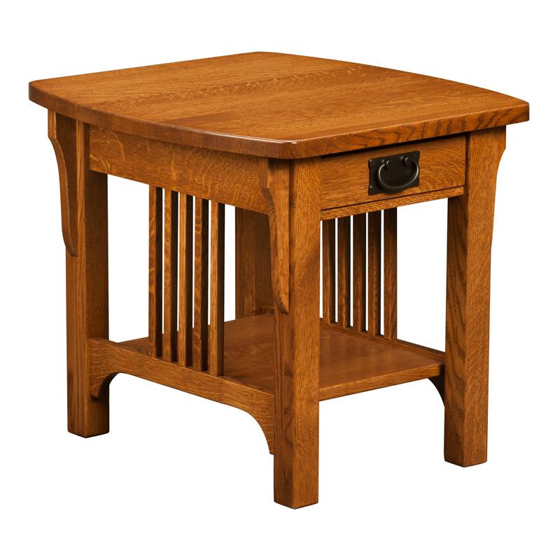 Craftsman mission end table shipshewana furniture co for Mission furniture