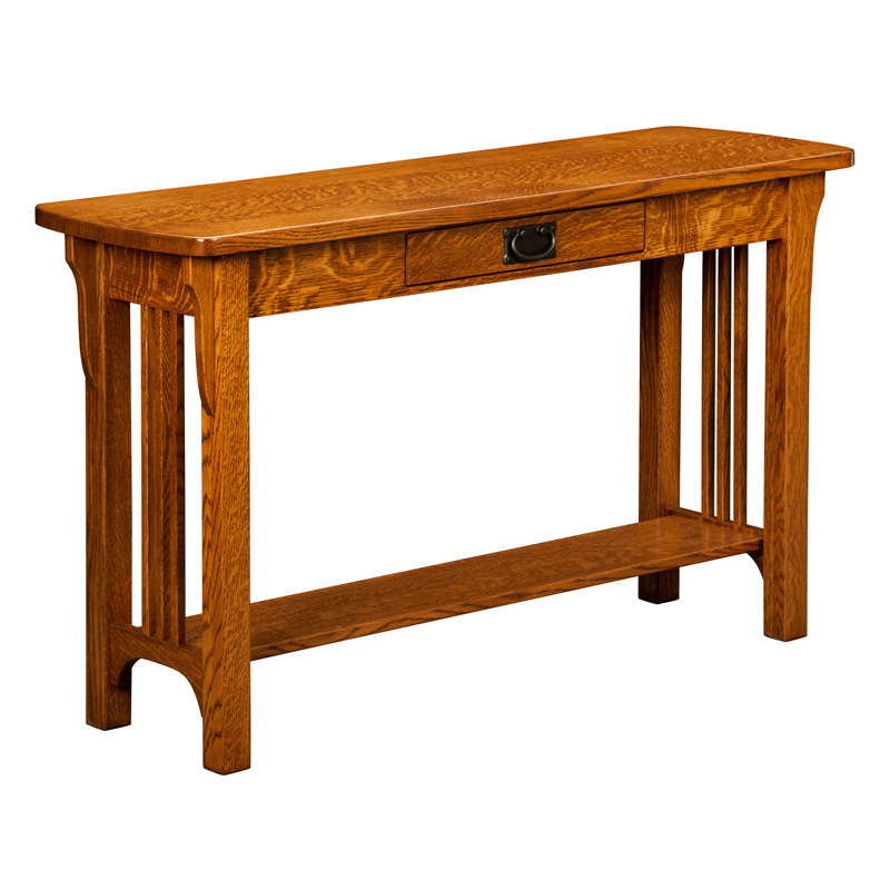 Amish Craftsman Mission Sofa Table | Amish Furniture | Shipshewana Furniture Co.