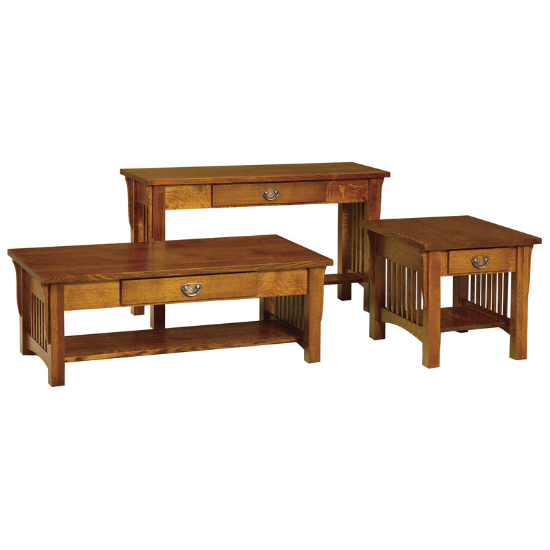 Amish Cubic Sofa Table | Amish Furniture | Shipshewana Furniture Co.