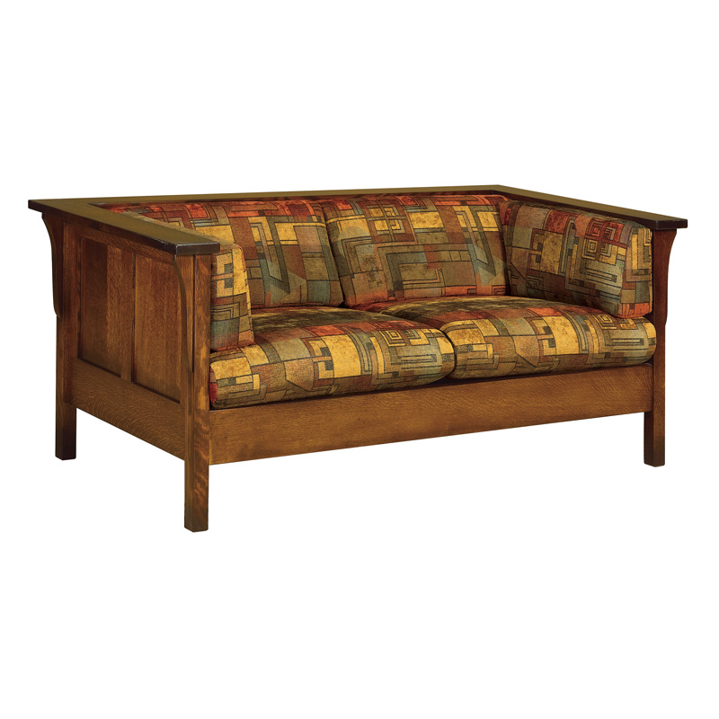 Amish Cubic Panel Loveseat | Amish Furniture | Shipshewana Furniture Co.