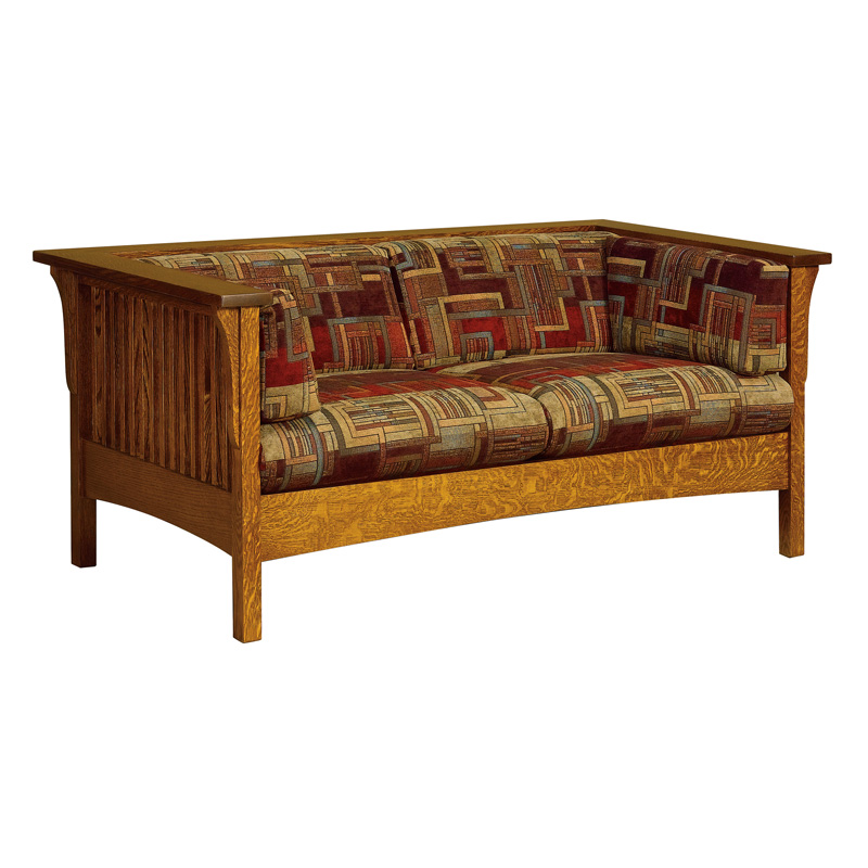 Amish Cubic Slat Loveseat | Amish Furniture | Shipshewana Furniture Co.