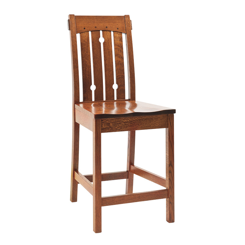 Amish Dallas Bar Chair | Amish Furniture | Shipshewana Furniture Co.