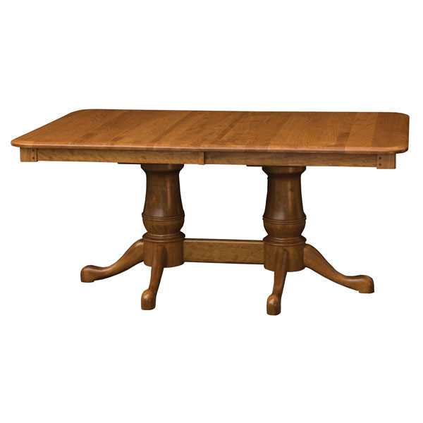 Amish Elizabeth Double Pedestal Table | Amish Furniture | Shipshewana Furniture Co.
