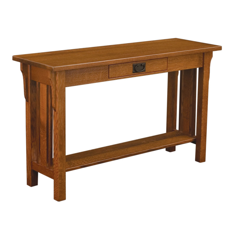 Amish Elliot Mission Sofa Table | Amish Furniture | Shipshewana Furniture Co.