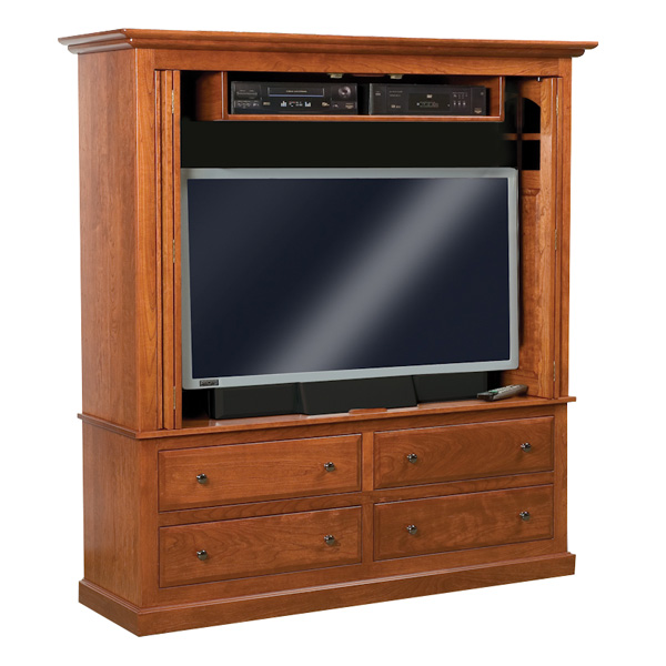 Contemporary mission enclosed tv cabinet shipshewana