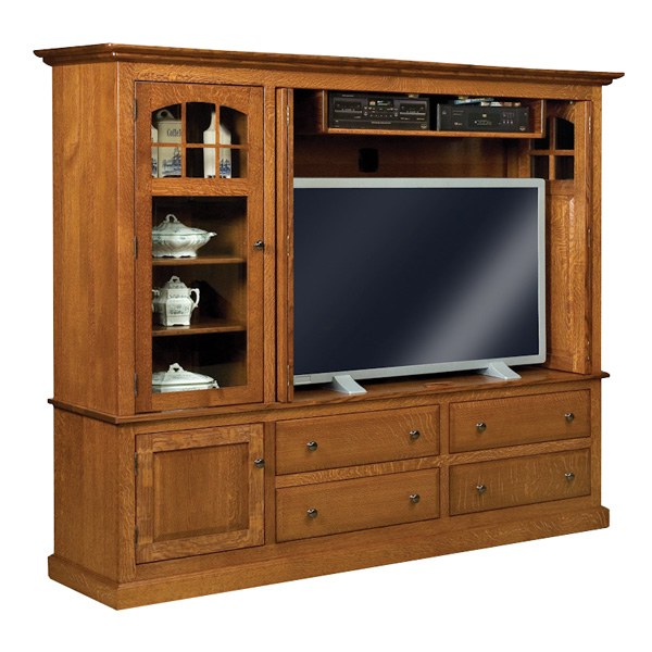 Amish Forks Contemporary Mission TV Cabinet | Amish Furniture | Shipshewana Furniture Co.