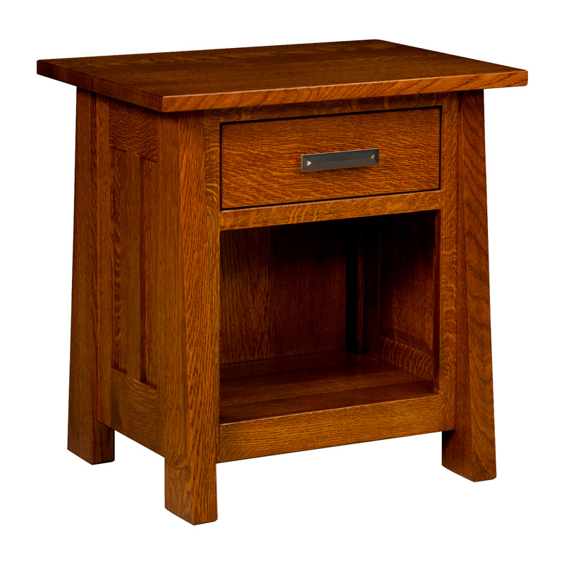 "Freemont Mission 1 Drawer Open Nightstand 27""H"