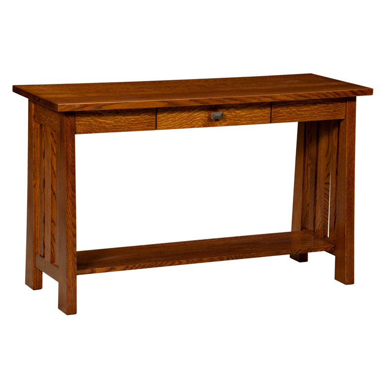More Information, Amish Freemont Mission Open Sofa Table | Amish Furniture  | Shipshewana Furniture Co.