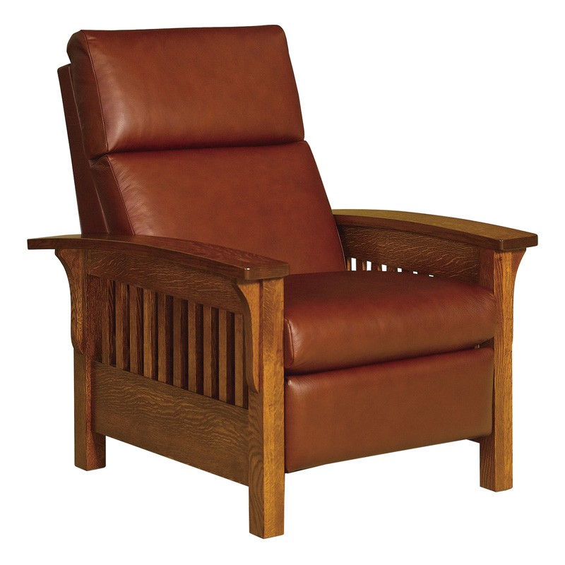 Wood Arm Recliner ~ Heartland slat recliner amish chairs recliners