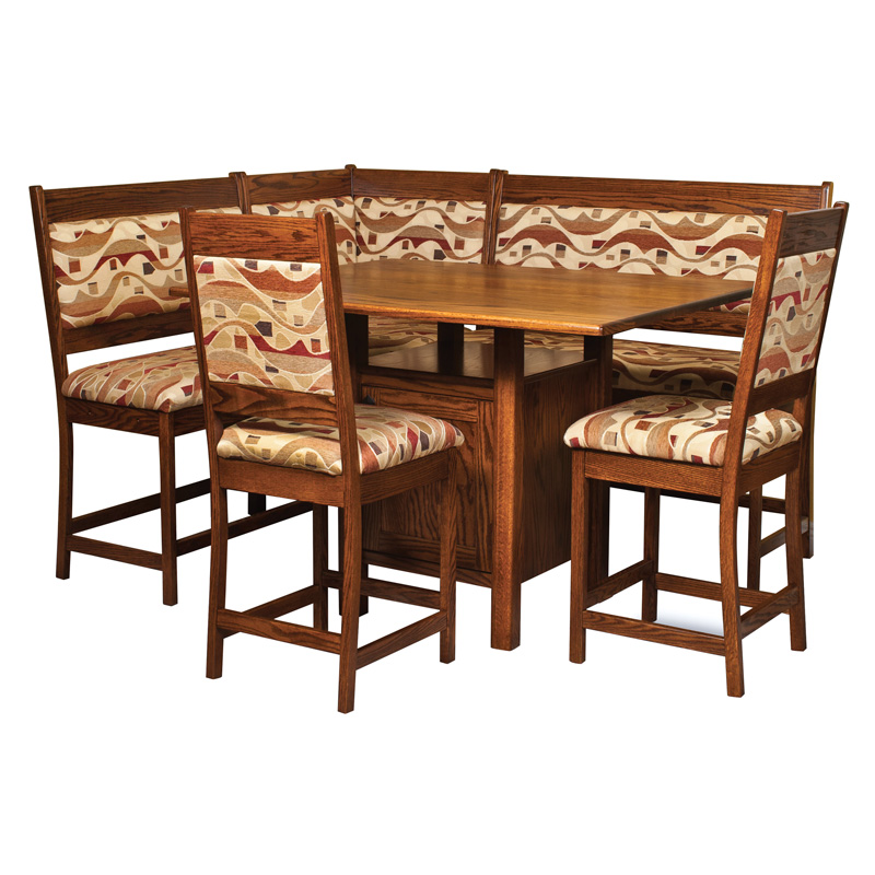 amish high country breakfast nook amish furniture shipshewana furniture co amish corner breakfast nooks