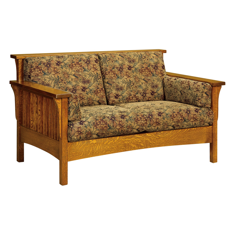 Amish High Back Slat Loveseat | Amish Furniture | Shipshewana Furniture Co.