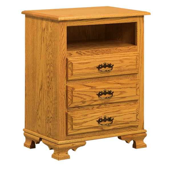 Hoosier Heritage 3 Drawer Nightstand with Opening