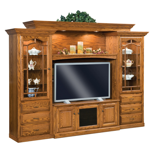 Amish Hoosier Heritage 6pc Wall Unit | Amish Furniture | Shipshewana Furniture Co.