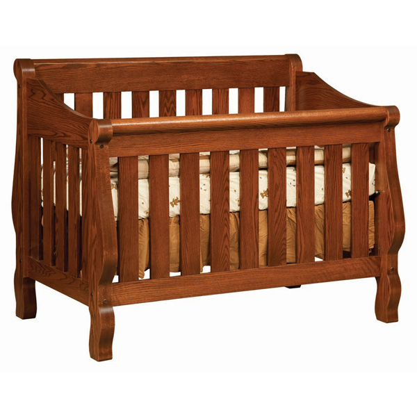 Amish Hoosier Sleigh Crib | Amish Furniture | Shipshewana Furniture Co.