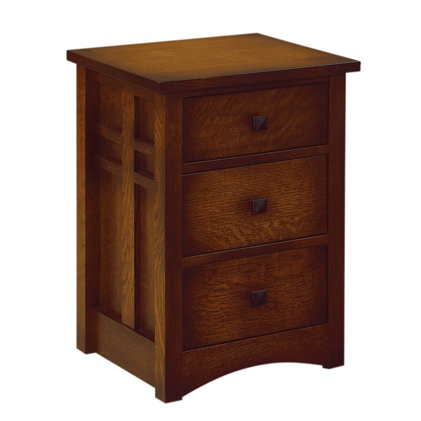 Kascade 3 Drawer Narrow Nightstand
