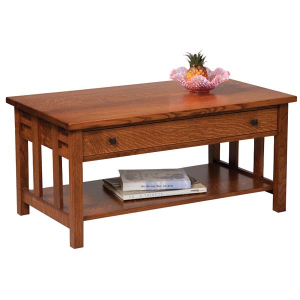 Amish Kascade Open Coffee Table | Amish Furniture | Shipshewana Furniture  Co.