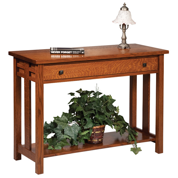 Amish Kascade Open Sofa Table | Amish Furniture | Shipshewana Furniture Co.
