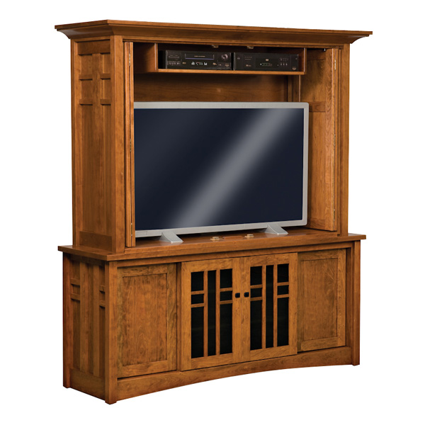Kascade Enclosed TV Cabinet | Amish Furniture, Amish Furniture ...