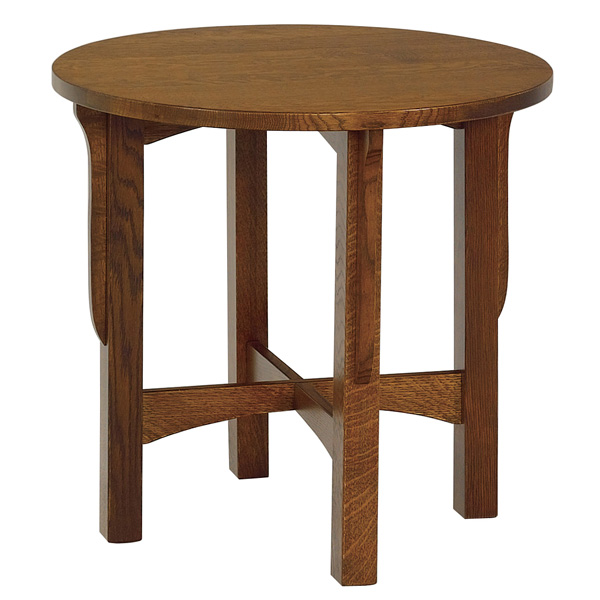 "Amish Lancaster 26"" Round End Table 