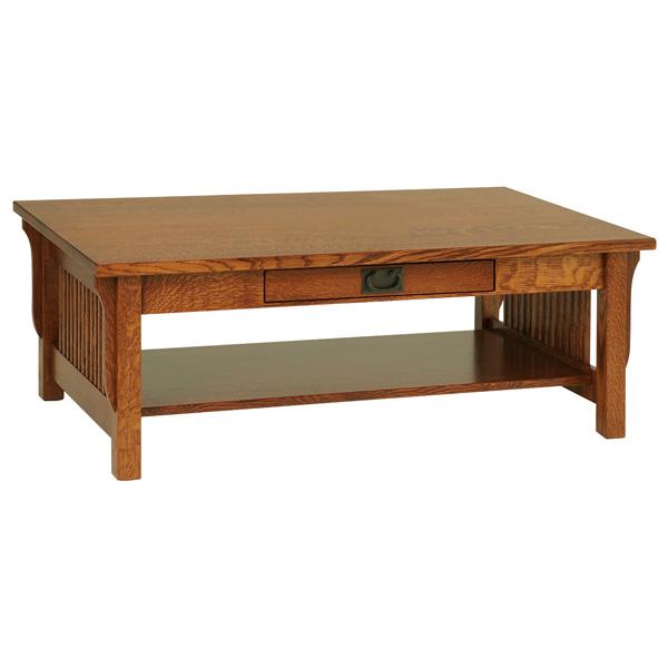 Lancaster Glass Top Coffee Table Amish Amish Furniture Shipshewana Furniture Co