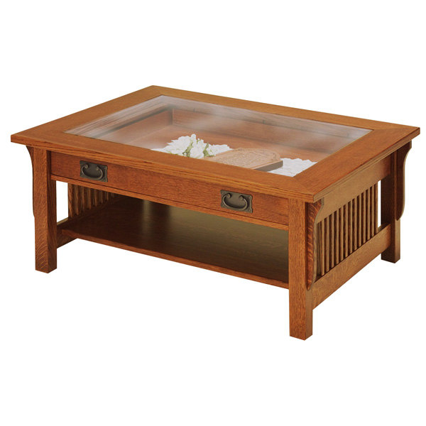 Lancaster Glass Top Coffee Table Shipshewana Furniture Co