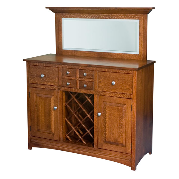 Amish Lillian Wine Cabinet | Amish Furniture | Shipshewana Furniture Co.