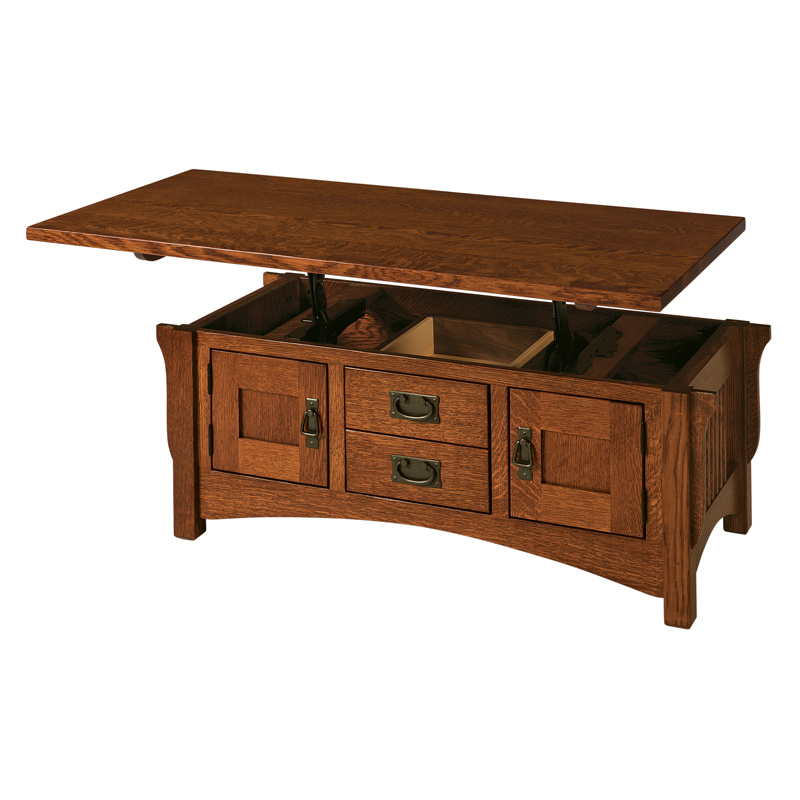 Lombard LiftTop Coffee Table Shipshewana Furniture Co - Lift top coffee table with storage drawers
